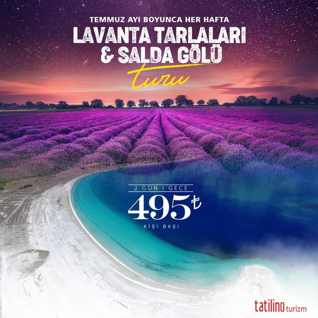 Lavanta Tarlası , Salda Gölü  ve  Sagalassos Turu